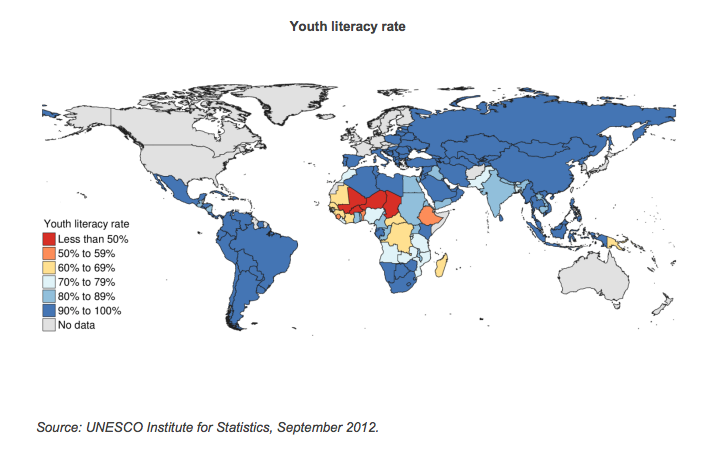 Map of Youth Literacy