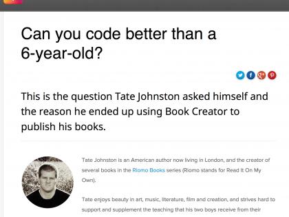 Riomo Books Author Featured on Book Creator Blog